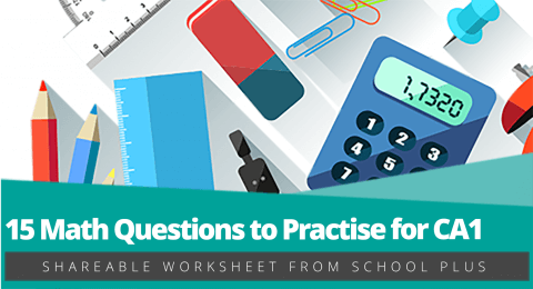 Geniebook – 15 Math Questions to Practice for CA1