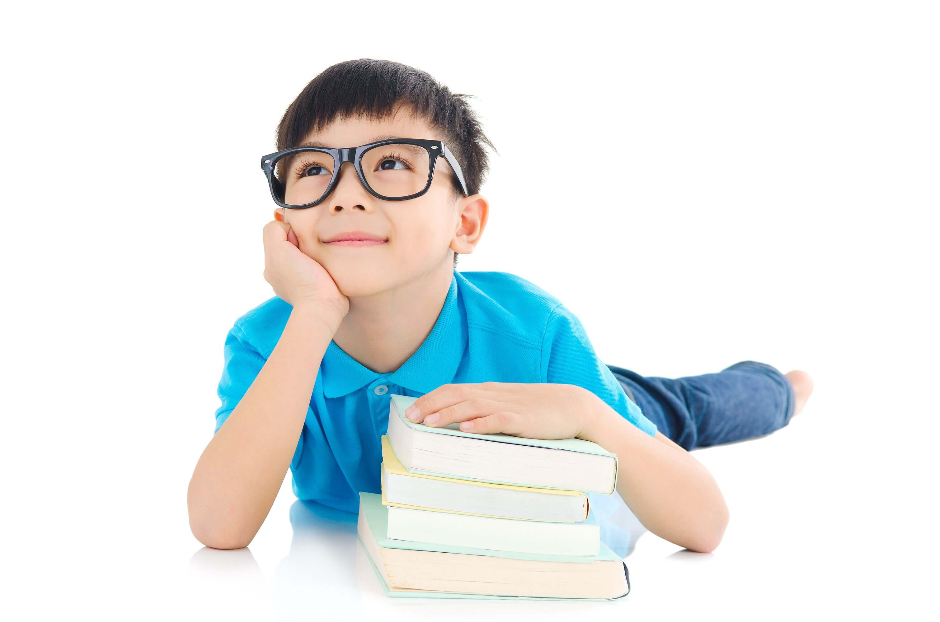 Asian Kid With Glasses