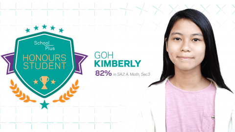 Honours Student: Kimberly Goh, Secondary 3