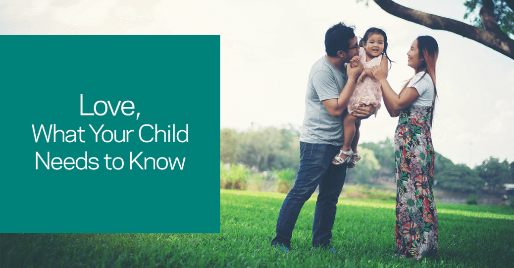 Teach your child how to show love